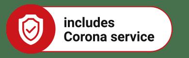 includes Corona service